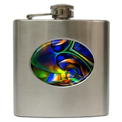 Light Texture Abstract Background Hip Flask (6 Oz)
