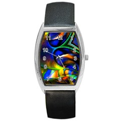 Light Texture Abstract Background Barrel Style Metal Watch
