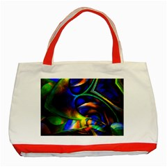 Light Texture Abstract Background Classic Tote Bag (Red)