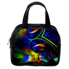 Light Texture Abstract Background Classic Handbags (one Side)