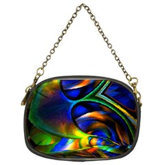 Light Texture Abstract Background Chain Purses (Two Sides)