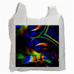 Light Texture Abstract Background Recycle Bag (one Side)