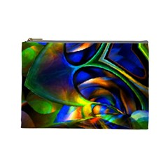 Light Texture Abstract Background Cosmetic Bag (large)