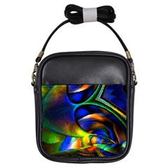 Light Texture Abstract Background Girls Sling Bags