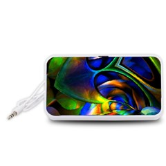 Light Texture Abstract Background Portable Speaker (White)