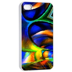 Light Texture Abstract Background Apple Iphone 4/4s Seamless Case (white)