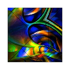 Light Texture Abstract Background Acrylic Tangram Puzzle (6  X 6 )