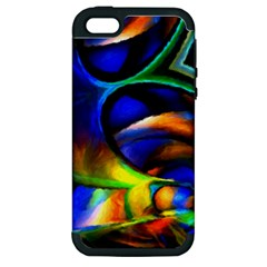 Light Texture Abstract Background Apple Iphone 5 Hardshell Case (pc+silicone)