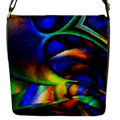 Light Texture Abstract Background Flap Messenger Bag (s)