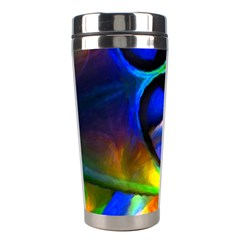 Light Texture Abstract Background Stainless Steel Travel Tumblers