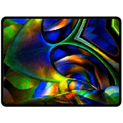 Light Texture Abstract Background Double Sided Fleece Blanket (large)