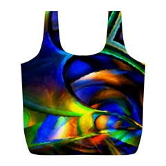 Light Texture Abstract Background Full Print Recycle Bags (l)