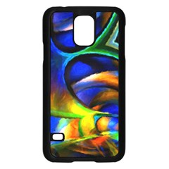 Light Texture Abstract Background Samsung Galaxy S5 Case (black)