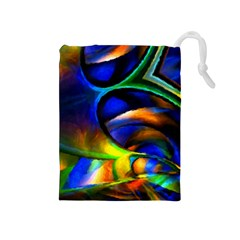 Light Texture Abstract Background Drawstring Pouches (medium)