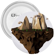Low Poly Floating Island 3d Render 3  Buttons