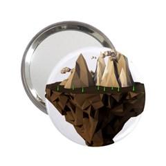 Low Poly Floating Island 3d Render 2 25  Handbag Mirrors