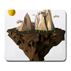 Low Poly Floating Island 3d Render Large Mousepads