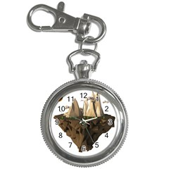 Low Poly Floating Island 3d Render Key Chain Watches