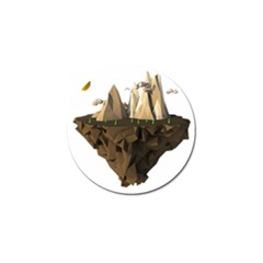 Low Poly Floating Island 3d Render Golf Ball Marker (4 Pack)