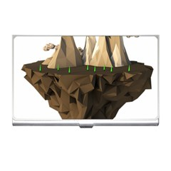 Low Poly Floating Island 3d Render Business Card Holders