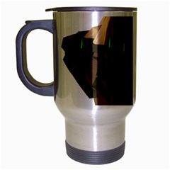 Low Poly Floating Island 3d Render Travel Mug (silver Gray)