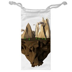 Low Poly Floating Island 3d Render Jewelry Bag