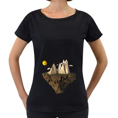 Low Poly Floating Island 3d Render Women s Loose Fit T Shirt (black)