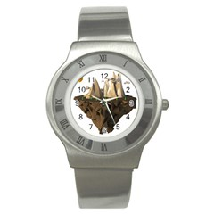Low Poly Floating Island 3d Render Stainless Steel Watch