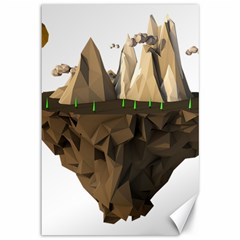 Low Poly Floating Island 3d Render Canvas 12  X 18
