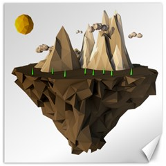 Low Poly Floating Island 3d Render Canvas 20  X 20