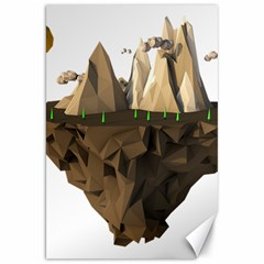 Low Poly Floating Island 3d Render Canvas 20  x 30