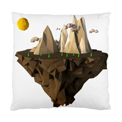 Low Poly Floating Island 3d Render Standard Cushion Case (two Sides)