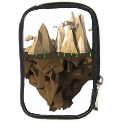 Low Poly Floating Island 3d Render Compact Camera Cases