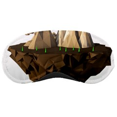 Low Poly Floating Island 3d Render Sleeping Masks