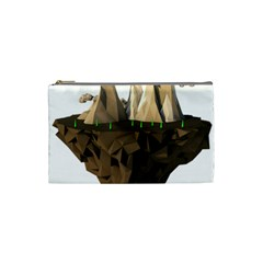 Low Poly Floating Island 3d Render Cosmetic Bag (small)
