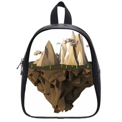 Low Poly Floating Island 3d Render School Bags (small)
