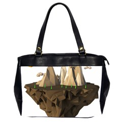 Low Poly Floating Island 3d Render Office Handbags (2 Sides)