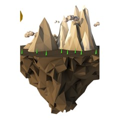 Low Poly Floating Island 3d Render 5 5  X 8 5  Notebooks