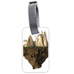 Low Poly Floating Island 3d Render Luggage Tags (two Sides)