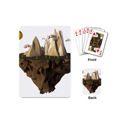 Low Poly Floating Island 3d Render Playing Cards (mini)