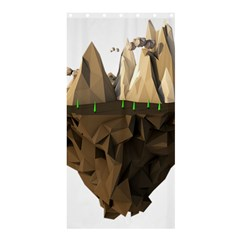 Low Poly Floating Island 3d Render Shower Curtain 36  X 72  (stall)