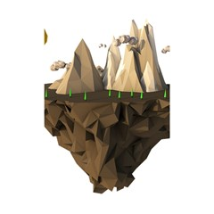 Low Poly Floating Island 3d Render Shower Curtain 48  X 72  (small)