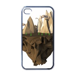 Low Poly Floating Island 3d Render Apple Iphone 4 Case (black)