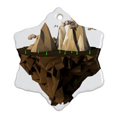 Low Poly Floating Island 3d Render Ornament (snowflake)