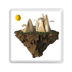Low Poly Floating Island 3d Render Memory Card Reader (square)