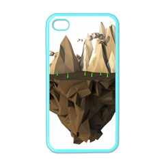 Low Poly Floating Island 3d Render Apple Iphone 4 Case (color)