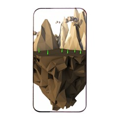 Low Poly Floating Island 3d Render Apple Iphone 4/4s Seamless Case (black)
