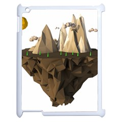Low Poly Floating Island 3d Render Apple Ipad 2 Case (white)