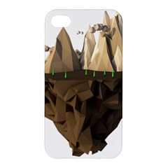 Low Poly Floating Island 3d Render Apple Iphone 4/4s Hardshell Case