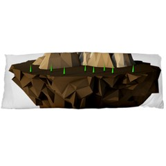 Low Poly Floating Island 3d Render Body Pillow Case (dakimakura)